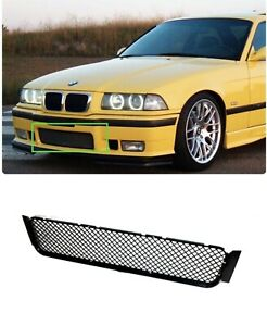 For 92 98 Bmw E36 M3 Front Bumper Lower Sport Mesh Grille Grill Black Plastic