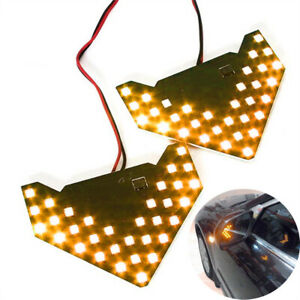 2x Amber 33 smd Sequential Led Arrows For Car Side Mirror Turn Signal Lights