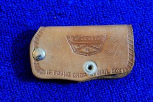 Vintage Ford Leather Key Case Key Chain Key Ring Accessory Lubbock Tx