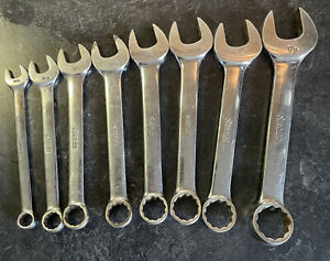 Set 8 Snap On Combination Oex Sae Wrenches 11 32 3 8 3 4 Oex 110