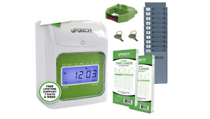Office Time Clock Machine Auto Payroll Employee System Electronic Card Track Day