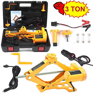 Electric Car Floor Jack 3 Ton All in one Automatic 12v Scissor Lift Jack Set For