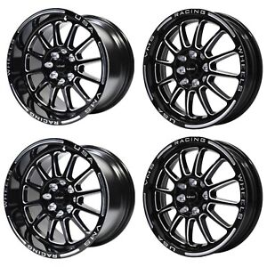 Vms Black Hawk Racing Rims Wheels 15x8 And 15x3 5 5x100 5x114 3
