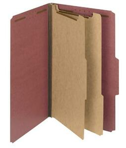 New Smead Classification File W 2 Dividers 2 Expansion Legal Size 1 Folder Red