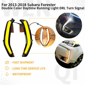 For 2013 2018 Subaru Forester Double Color Daytime Running Light Drl Turn Signal