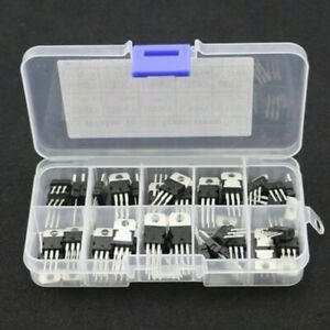 50pcs set 10 Values Voltage Regulator Transistor Assortment Components Supply