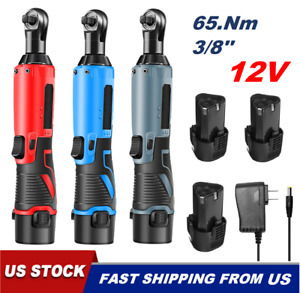 12v 3 8 65nm Electric Right Angle Cordless Ratchet Wrench Tool With Battery