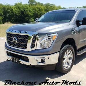 White Raised Letters For Nissan Titan Hood Grill Plastic Inserts 2016 2019