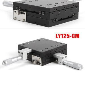 Xy axis Linear Stage Manual Slide Table Trimming Platform Aluminum Alloy Black