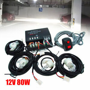 Hq Emergency Strobe Light Hid Bulbs 80w Ultra Bright Fog Lamp Warning Light 12v