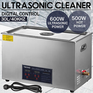 30l Liter Ultrasonic Cleaner Stainless Steel Industry Heated Heater W timer