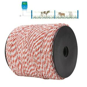 Portable Electric Fence Polywire 1640 Feet 500 Meter White And Red Electric