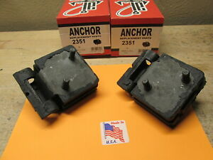 1966 To 1988 Amc Concord Gremlin Pacer V8 New Front Motor Mount Set Of 2 Usa