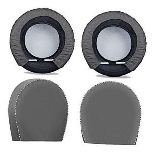Spare Tire Cover For Trailers tire Covers 4 Pack four Layers Dia 25in Gray