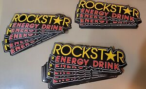 Lot Of Authentic Rockstar Energy Drink Stickers Decal Sign Logo Bmx Motocross