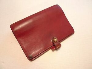 Filofax Calf Leather Planner vintage Made In Uk Model 4clf 7 8 Shabby Chic
