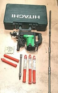 Hitachi Rotary Hammer Dh40fb W new 1 1 8 X 16 Bit And 8 Lhs 11 Extensions