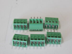 Phoenix Contact 1725672 Terminal Block 2 54mm 4 Position Connector Lot Of 6