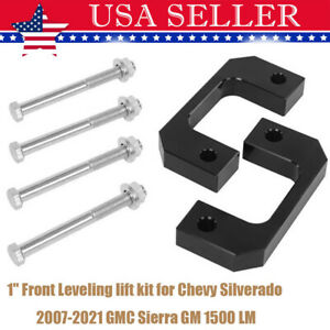 1 Front Leveling Lift Kit For Chevy Silverado 2007 2021 Gmc Sierra Gm 1500 Lm