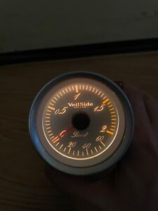 Veilside White 60mm Boost Gauge Meter Jdm 90s For Defi Hks Skyline Rx7 R32 Supra