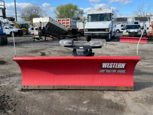 Western 8 Steel Straight Blade Ultra Mount Snow Plow Used Contrator Pro Plus