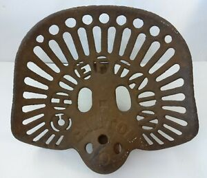 Chieftain Canton Farm Tractor Seat Rare Antique Vintage Cast Iron Rusted Art
