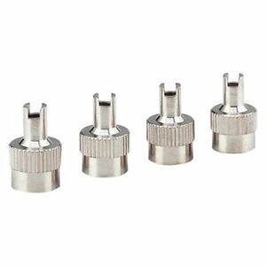 Silver Metal Schrader Tire Valve Cap Seal Stem Core Remover Tool Heavy Duty