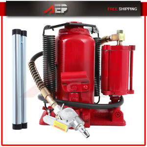 20 Ton Pneumatic Air Hydraulic Bottle Jack Air operated Low Profile With Handle