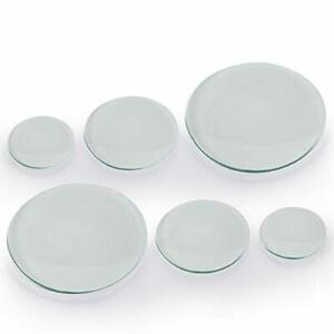 Young4us Watch Glass Beaker Cover Set 6 Pcs Lab Watch Glasses In 150mm 100mm