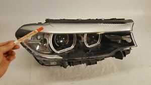 2017 2020 Bmw 5 series G30 530i Headlight Passenger Right Led Lamp Oem Bare
