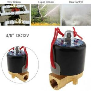 3 8 Dc 12v Electric Solenoid Valve Water Oil Air Gas Welders Normally Closed