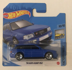 2021 Hot Wheels 157 94 Audi Avant Rs2 blue case J Short Card New Unopened