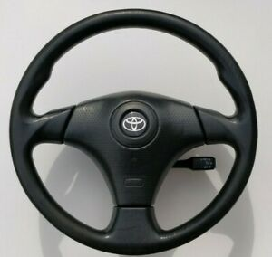 Toyota Supra Mr2 Celica Corolla 3 Spoke Steering Wheel Oem Vinyl Cruise Control