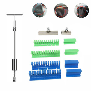 Car Body Paintless Dent Repair Removal Tool Kit T Bar Puller Lifter Pulling Set