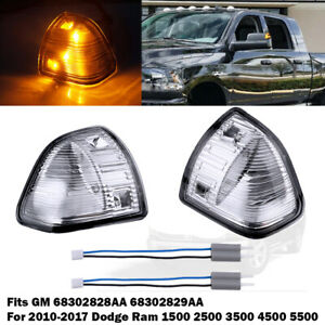 Clear Lens Amber Led Side Mirror Turn Signal Lights Lamps For Ram 1500 2500 3500