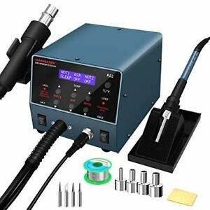 Durable 2 In 1 Hot Air Rework Gun Station And Soldering Iron Station 800w Wit