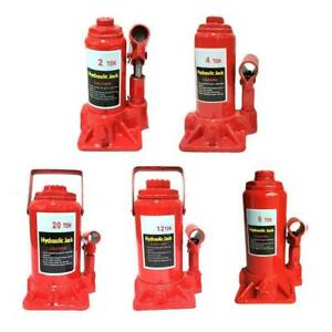 2 4 6 8 10 12 20 Ton Emergency Hydraulic Bottle Jack Lift For Truck Bus Car Red