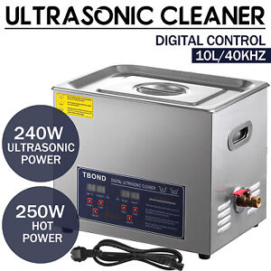 Commercial Ultrasonic Cleaner 10l Digital Industry Heated Heater W timer