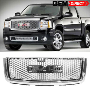 Fits 07 13 Gmc Sierra 1500 Denali Front Upper Hood Grille Guards
