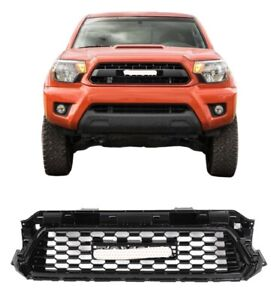 For 2012 2013 2014 2015 Toyota Tacoma Grille Grill Sport Style Gloss Black