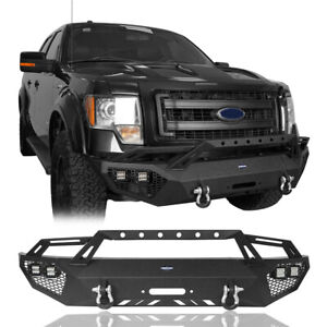 Heavy Duty Steel Front Bumper W grill Guard For 09 14 Ford F150 exclude Raptor