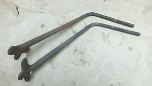 1917 1925 Model T Ford Coupe Roadster Rear Fender Irons Brackets Original Pair