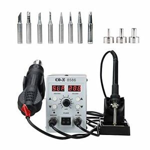 Co z Upgraded 2 In 1 Smd Soldering Rework Station With Hot Air Heat Gun Set E