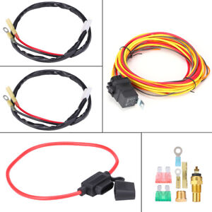 40amp 165 To 185 Dual Electric Cooling Fan Wiring Thermostat Harness Relay Kit
