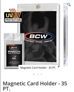 Bcw 35pt Magnetic One Touch For Trading Cards Uv Protection 1 Case