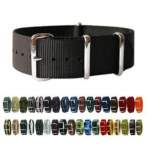 HNS Premium Ballistic Military Nylon Solid SS Watch Replacement Strap Band $11.60