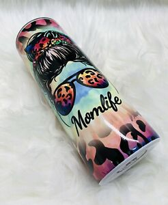 Custom Mom Life Tie Dye And leopard Print Tumbler For Her Gifts For Her $30.00