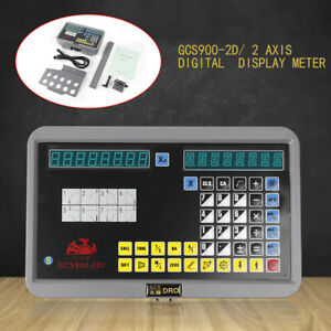 2axis Digital Display Readout Dro Linear Glass Grating Scale For Milling Machine