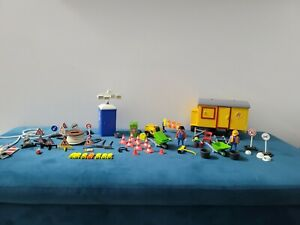 Playmobil 7242 Construction Trailer Bundle W Figures And Accessories