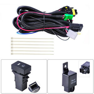 H11 Fog Light Wiring Led Indicator Switch Harness Socket Wire With 12v 40a Relay